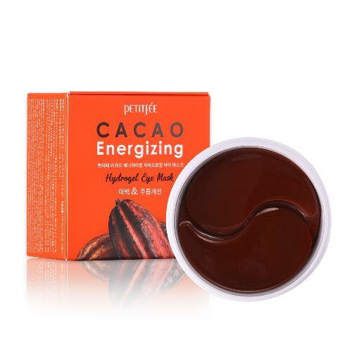 [PETITFEE] Гидрогелевые патчи для глаз КАКАО Cacao Energizing Hydrogel Eye Mask, 60 шт